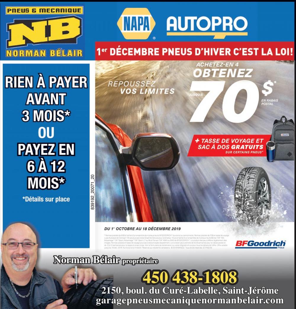 Promotion pour pneus d'hiver